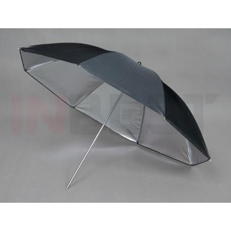 Parasolka srebrno-czarna 110cm
