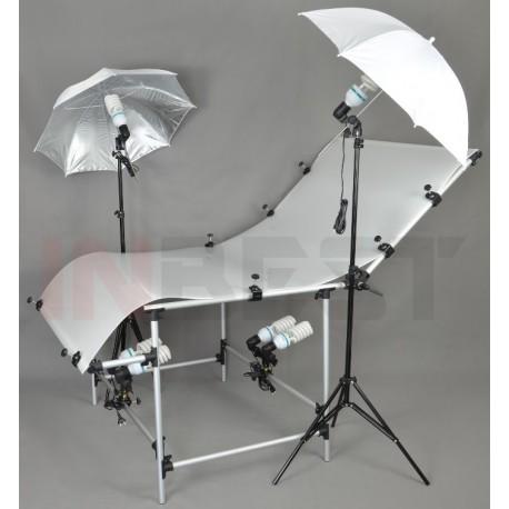 Zestaw do fotografii bezcieniowej ze stołem 100x200cm