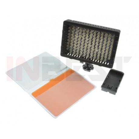 LAMPA DIODOWA DO KAMER 126 LED 5400/3200K + FILTRY