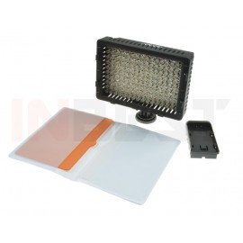 LAMPA DIODOWA DO KAMER 160 LED 5400/3200K + FILTRY
