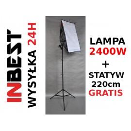 LAMPA SOFTBOX 50x70cm GOTOWY ZESTAW 2400W 220cm