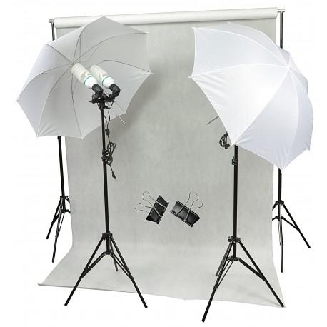 ZESTAW DOMOWE STUDIO 4x125W + TŁO FOTOGRAFICZNE
