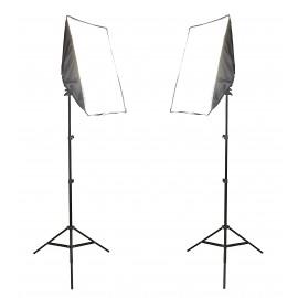 2x LAMPA SOFTBOX 50x70cm GOTOWY ZESTAW 3200W