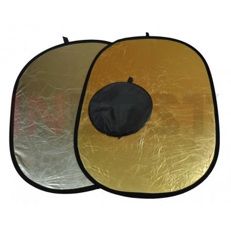 Blenda srebrno-złota 100x150cm