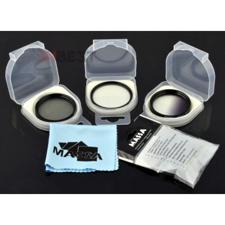 ZESTAW FILTRÓW 49mm CPL UV połówkowy SZARY +GRATIS