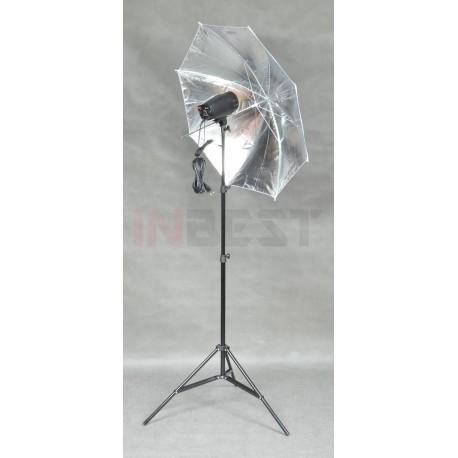 ZESTAW LAMPA 150Ws LP42 + STATYW + PARASOL SREBRNY