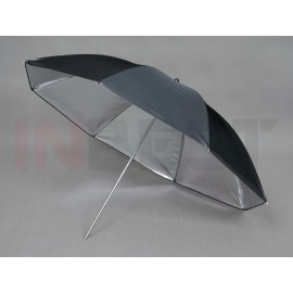Parasolka srebrno-czarna 84cm