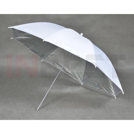 Parasolka srebrno-biała 84