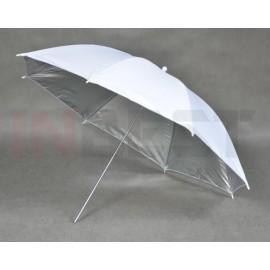 Parasolka srebrno-biała 110cm