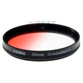 Filtr połówkowy czerwony 55mm ASURA