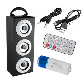 GŁOŚNIK PRZENOŚNY Subwoofer Radio USB SD Bluetooth
