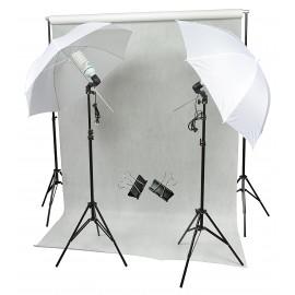 ZESTAW DOMOWE STUDIO 2x125W + TŁO FOTOGRAFICZNE