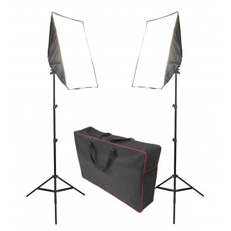 2x LAMPA SOFTBOX 50x70cm ZESTAW 2600W +TORBA