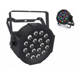 REFLEKTOR LAMPA DYSKOTEKOWA 18x1W LED PAR RGB