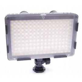 LAMPA do KAMER VIDEO 160 LED bi-color ŚCIEMNIACZ