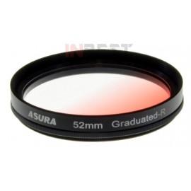 Filtr połówkowy czerwony 52mm ASURA