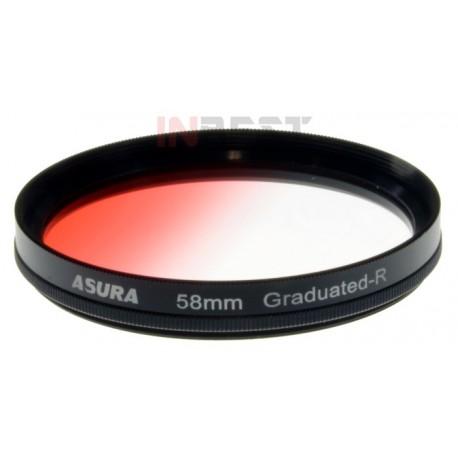 Filtr połówkowy czerwony 58mm ASURA